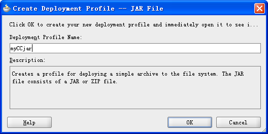 Example of creating deployment profile