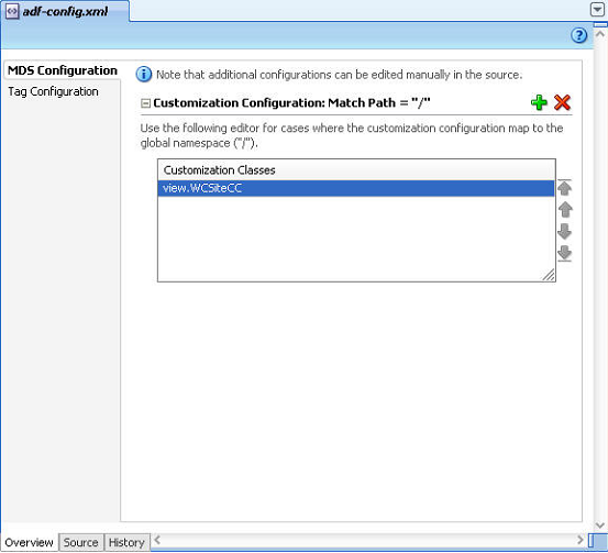 Example of setting MDS custom configuration